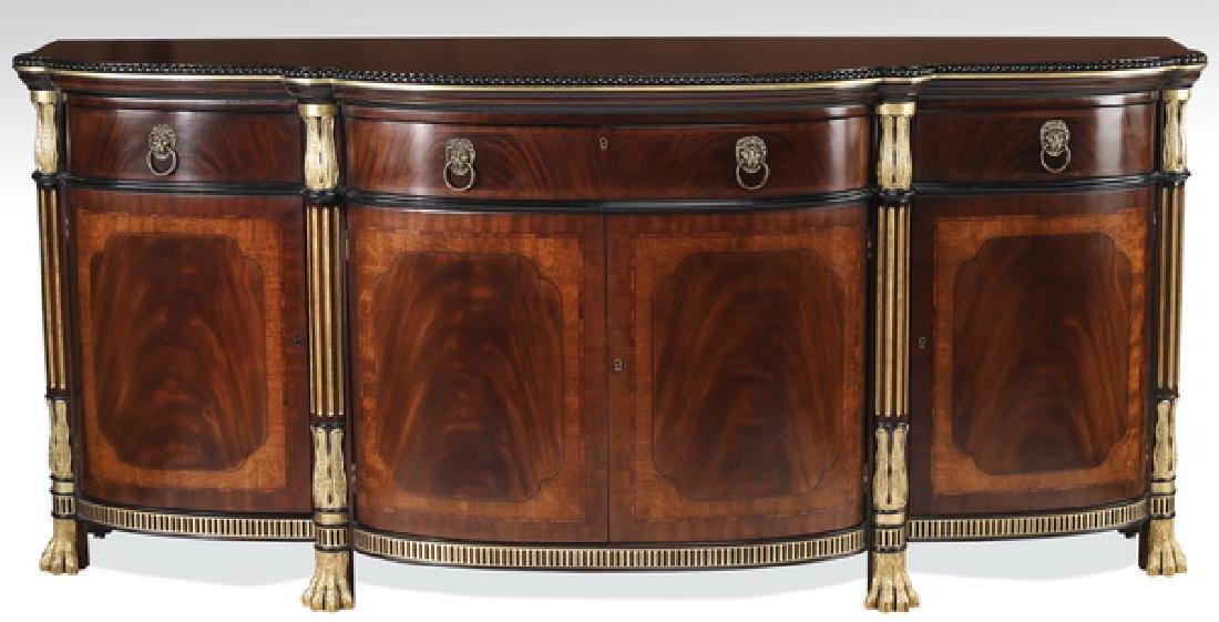 EJ Victor parcel gilt mahogany Regency style buffet