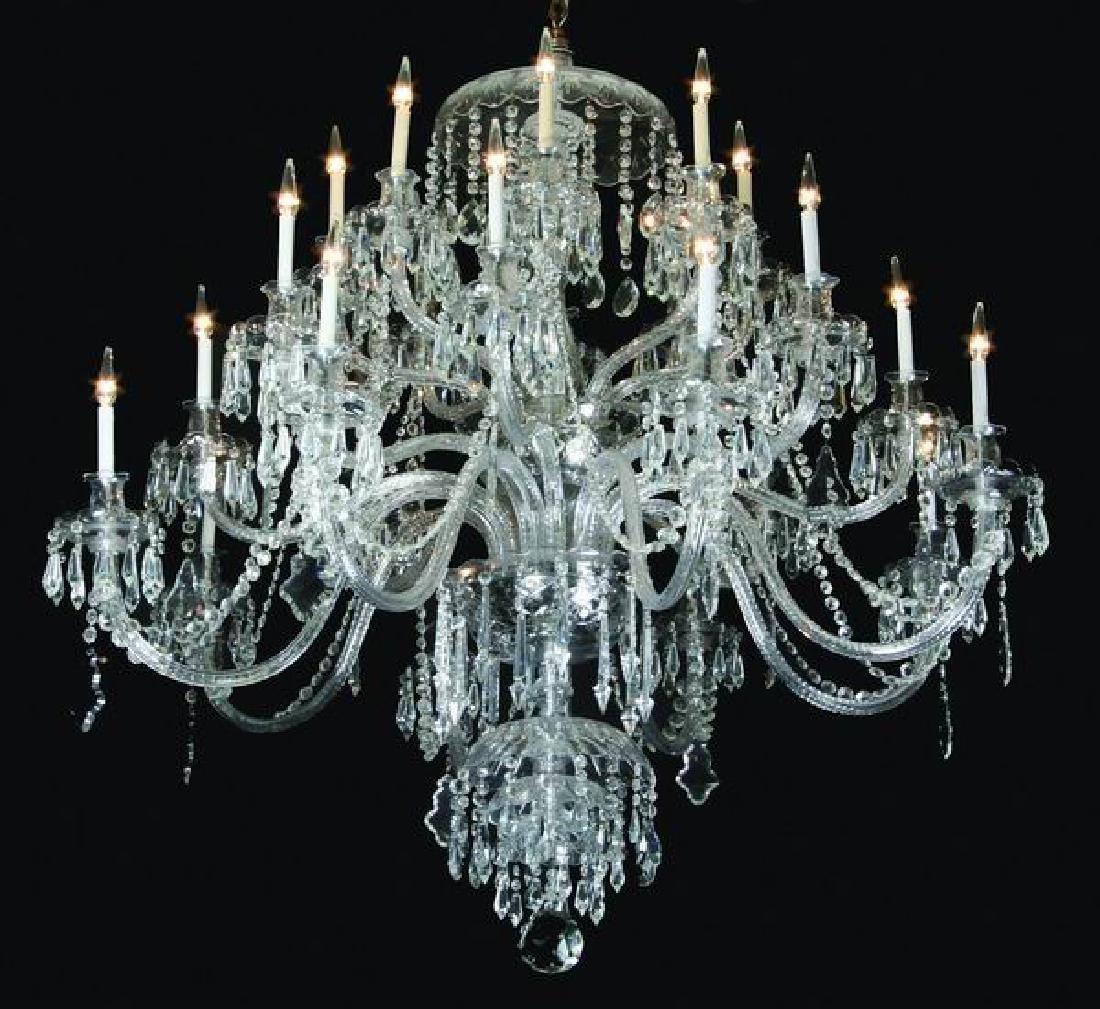 "Palace size 24-light crystal chandelier, 66""h"