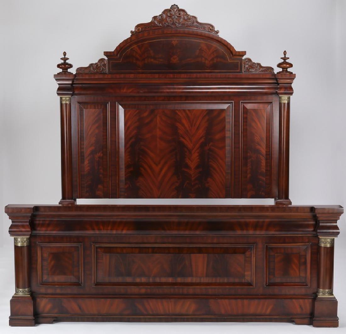 Henredon king size Empire style mahogany bedstead