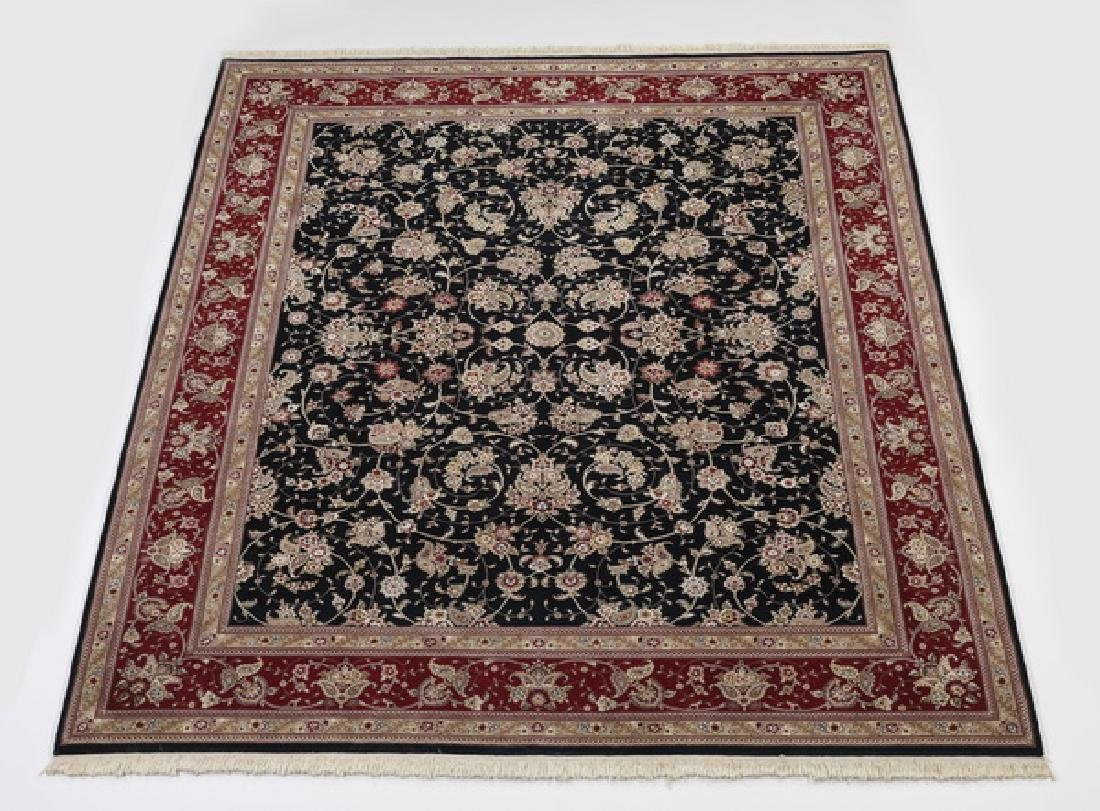 Hand knotted wool Indo-Kerman rug, 10 x 8