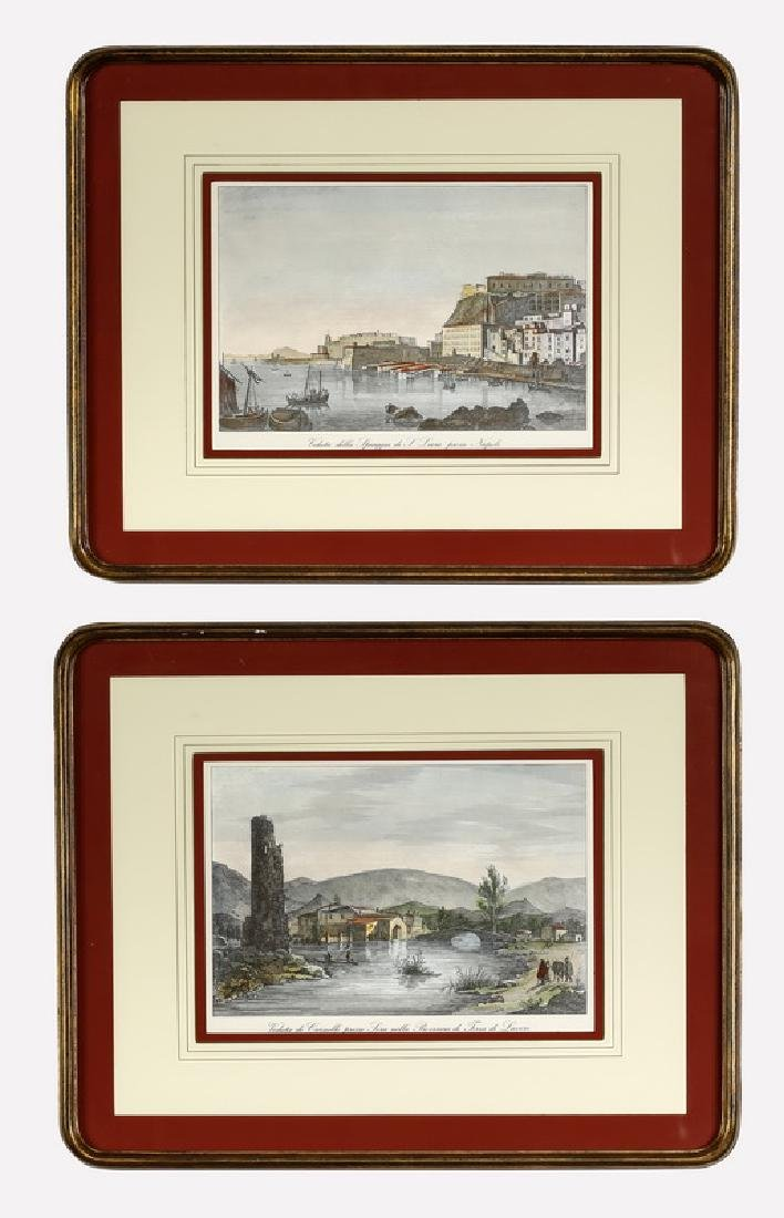(2) Italian hand-colored engravings by Orlandini