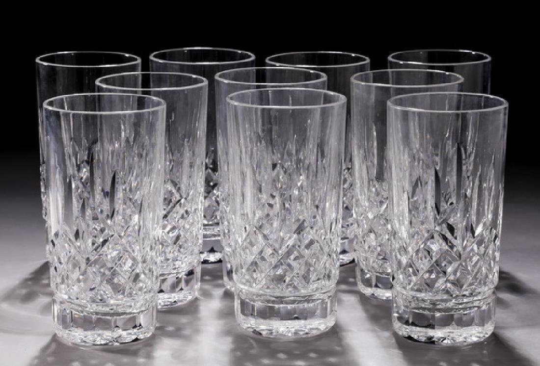 (10) Waterford crystal 'Lismore' highball glasses