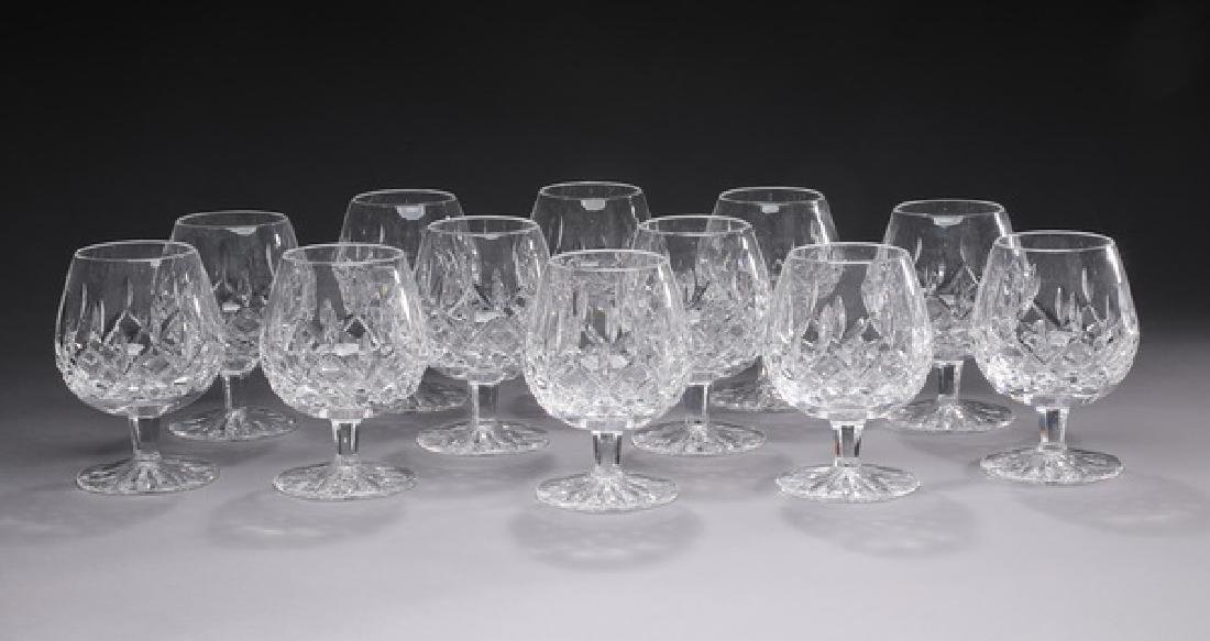 (12) Waterford crystal 'Lismore' brandy glasses