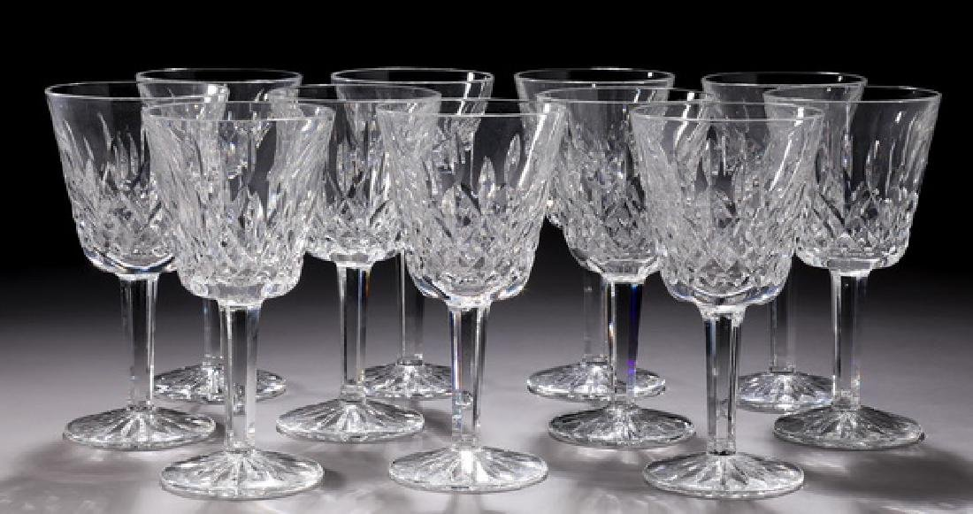 (11) Waterford crystal 'Lismore' claret wine glasses