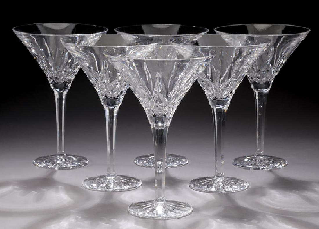 (6) Waterford crystal 'Lismore' martini glasses