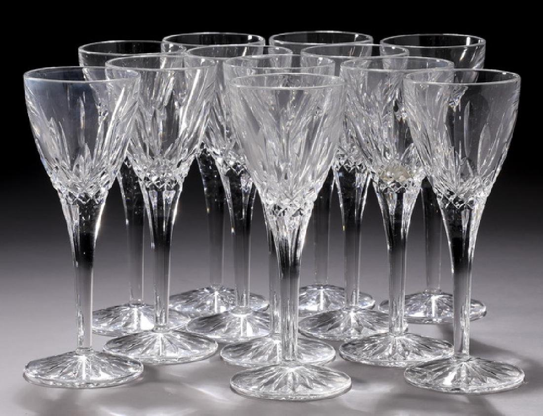 (12) Waterford crystal 'Lismore' cordial glasses
