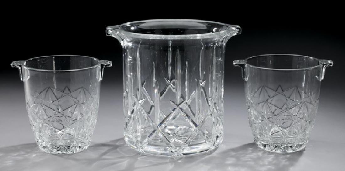 (3) Waterford crystal ice buckets