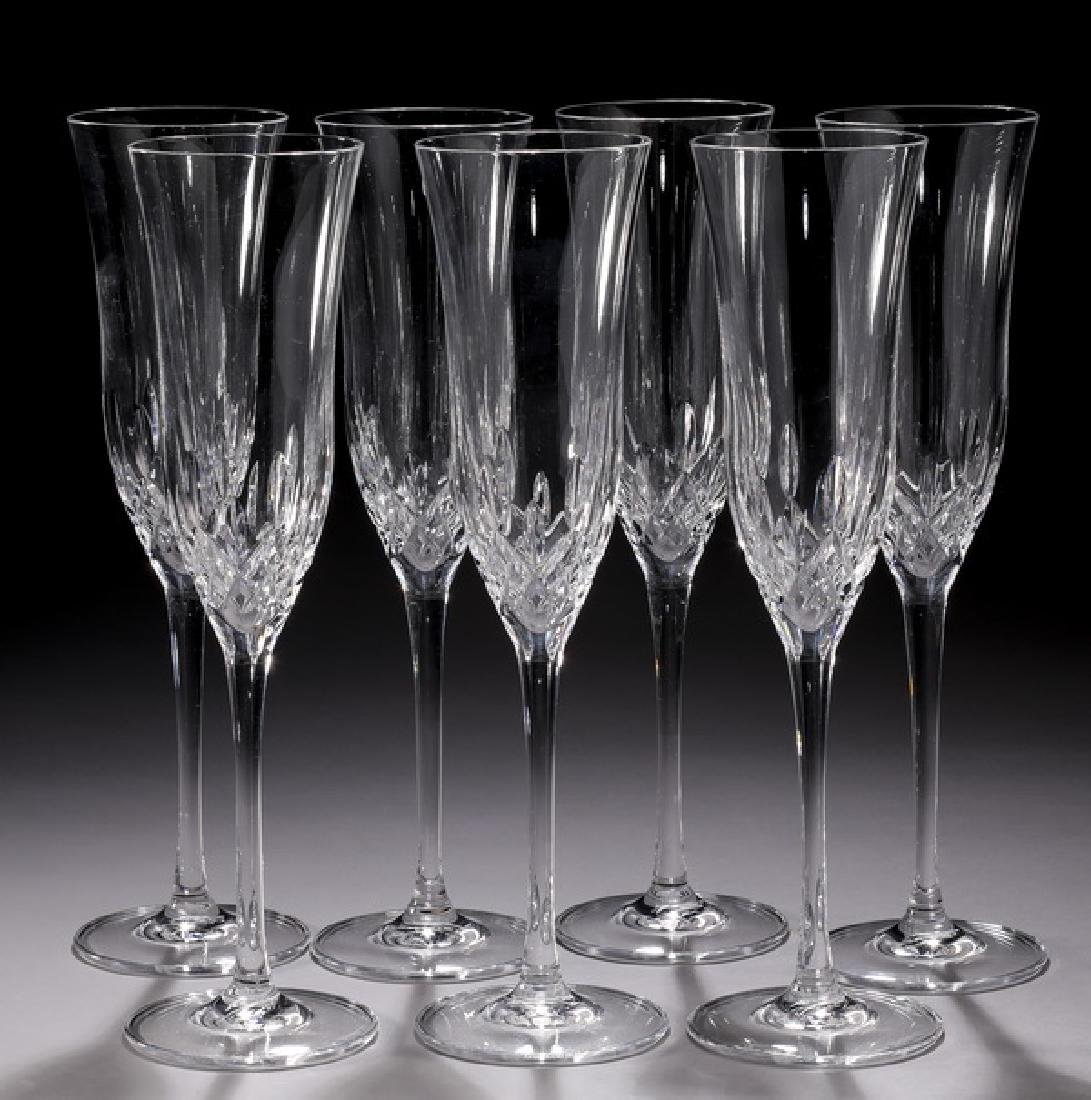 (7) Waterford  'Lismore Essence' champagne flutes