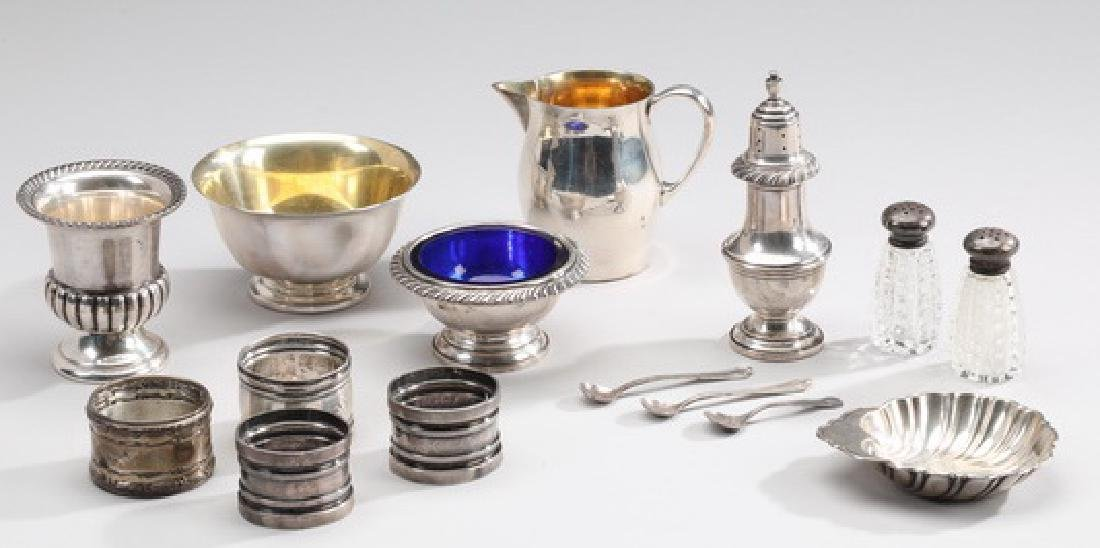 (15)  Sterling table articles by various makers