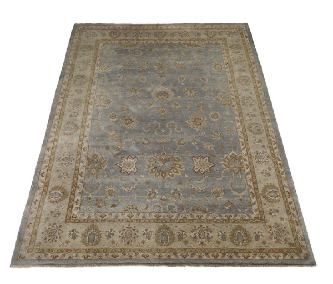 Hand knotted wool Indo-Oushak rug, 15 x 10