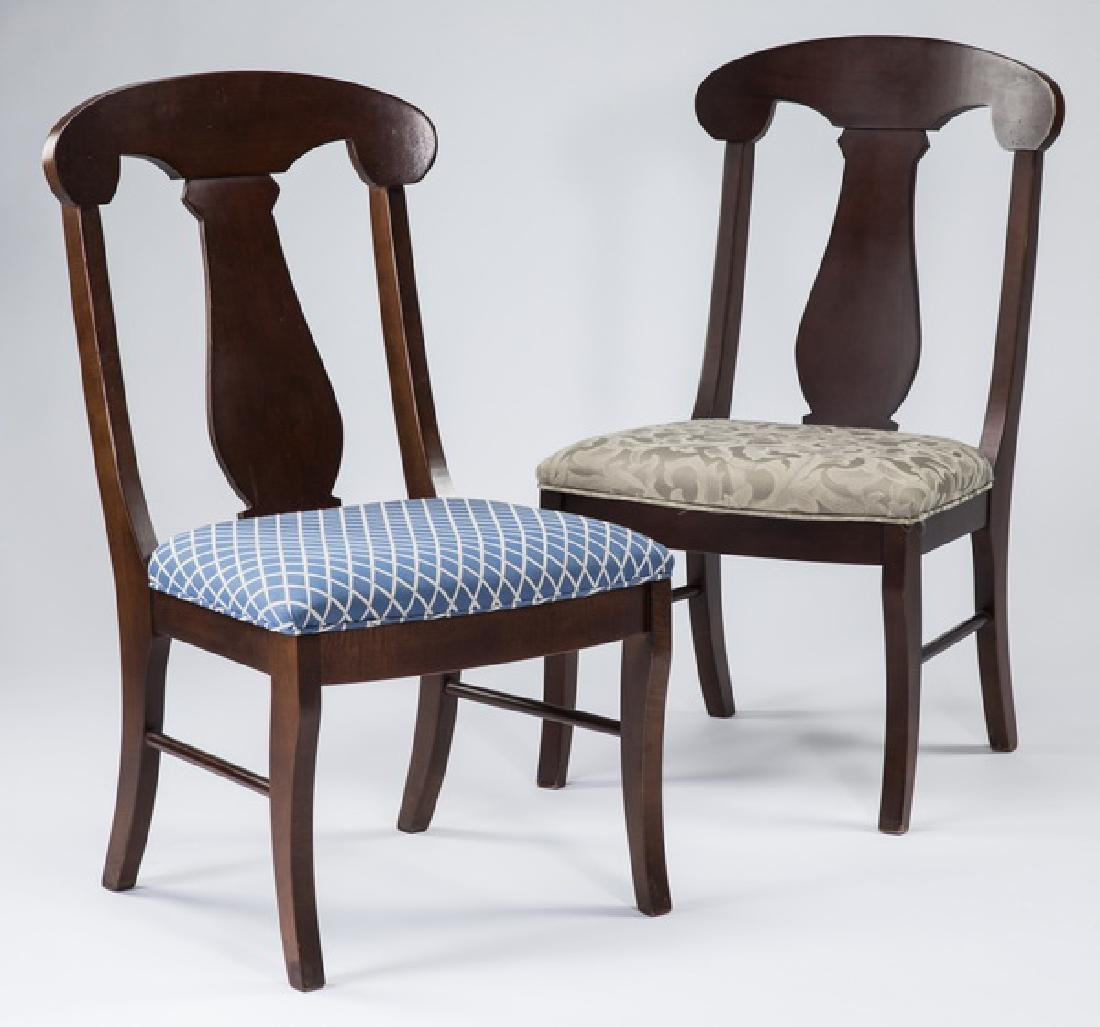 Pair of Empire style mahogany side chairs