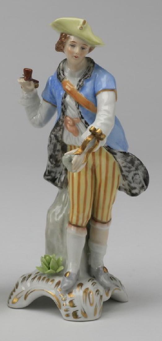 19th c.. Capodimonte figure of a traveler