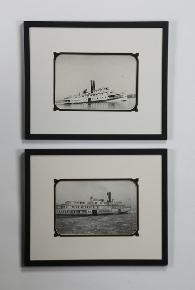 (2) Framed photos, Hudson River steamer 'Onteora'