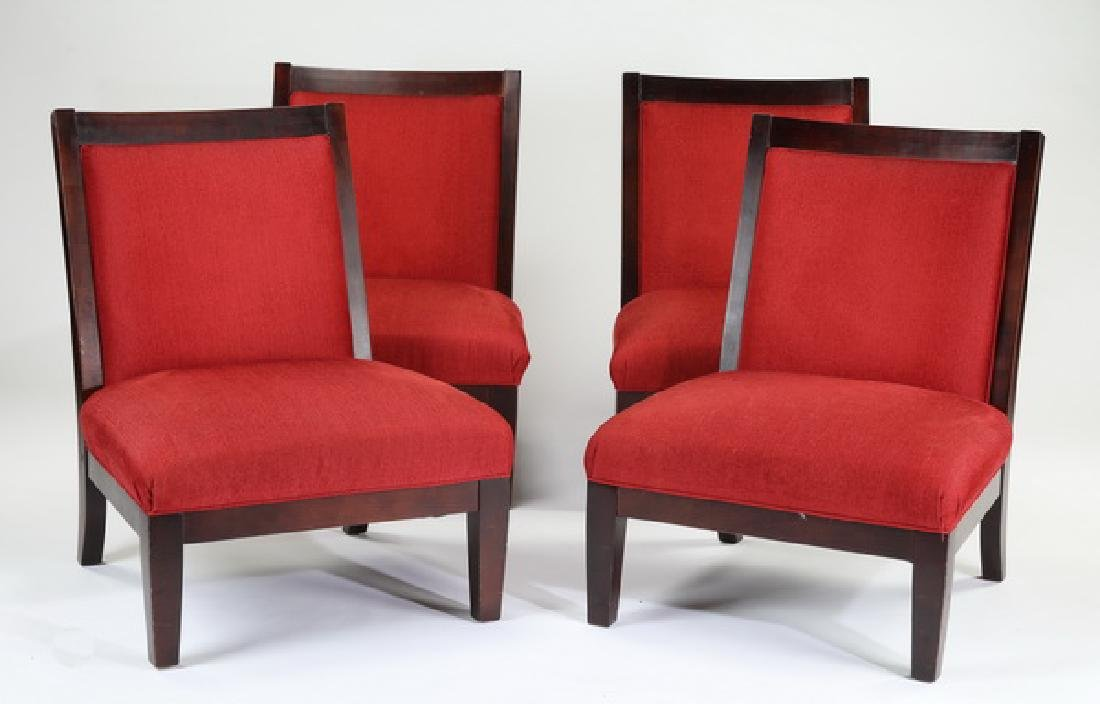 Set of (4) contemporary upholstered chairs