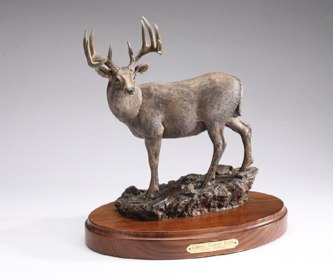 "Ducks Unlimited sculpture 'Ghost Marsh Buck,' 10""h"