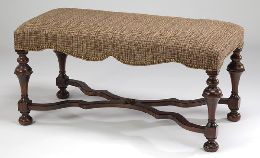 American Renaissance Revival style upholstered bench