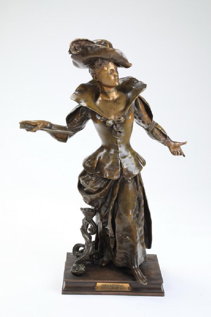 Charles Vital-Cornu (French) signed bronze sculpture
