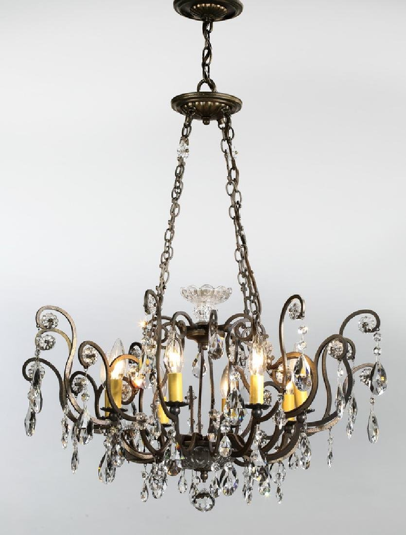 "French inspired 8-light chandelier, 26""dia"