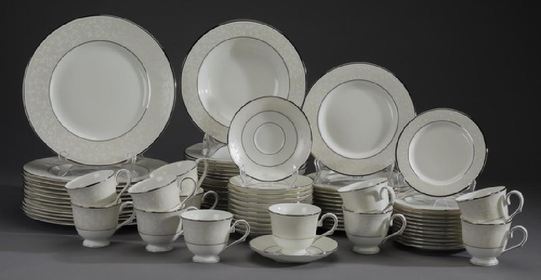 72 Pc Lenox porcelain 'Opal Innocence' dinner service