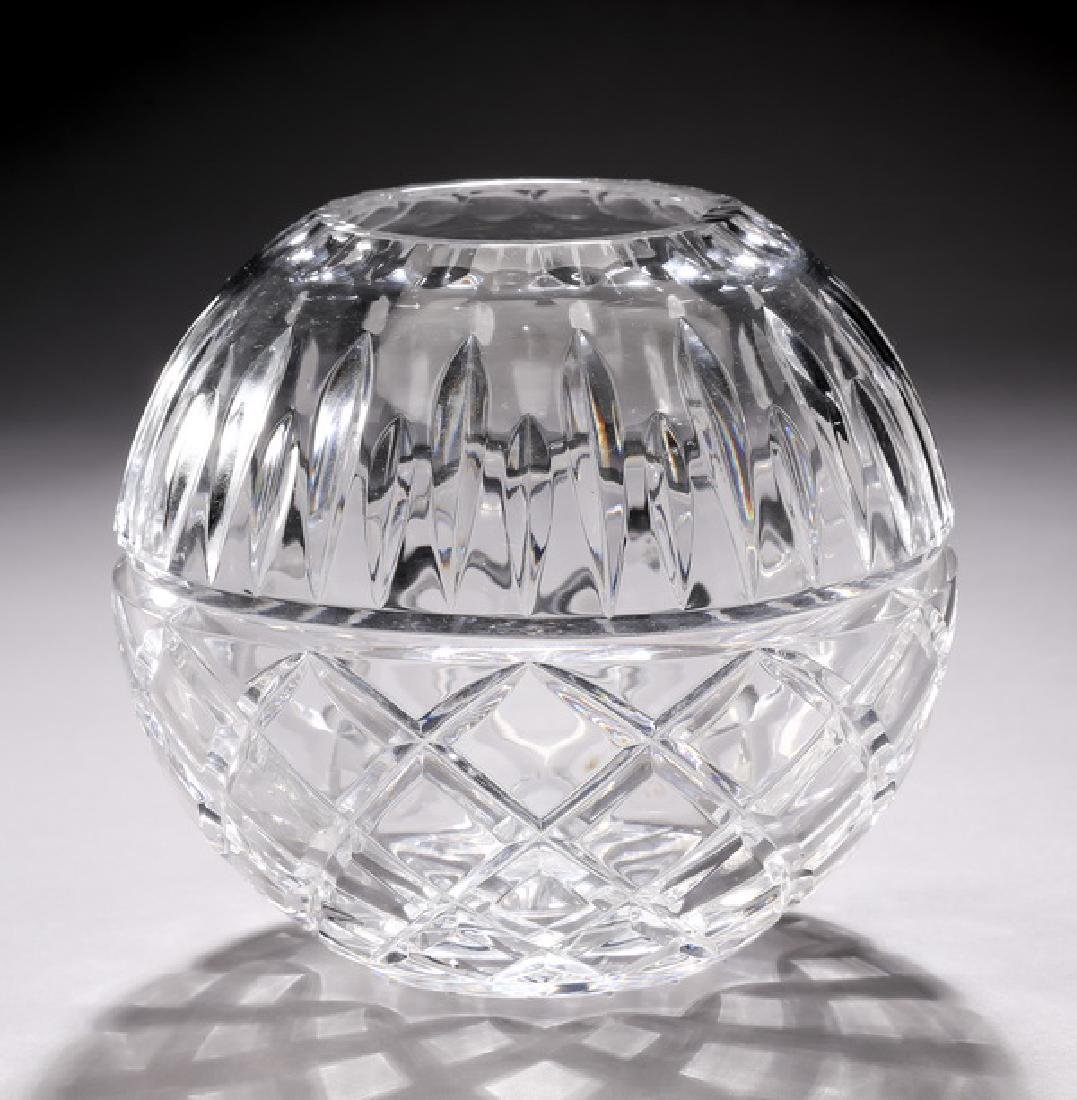 Waterford crystal rose bowl in the 'Maeve' pattern