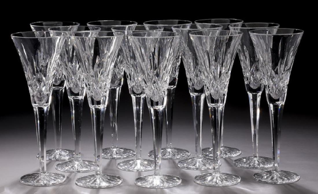 (13) Waterford crystal 'Lismore' champagne flutes