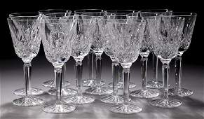 15 Waterford crystal Lismore water goblets