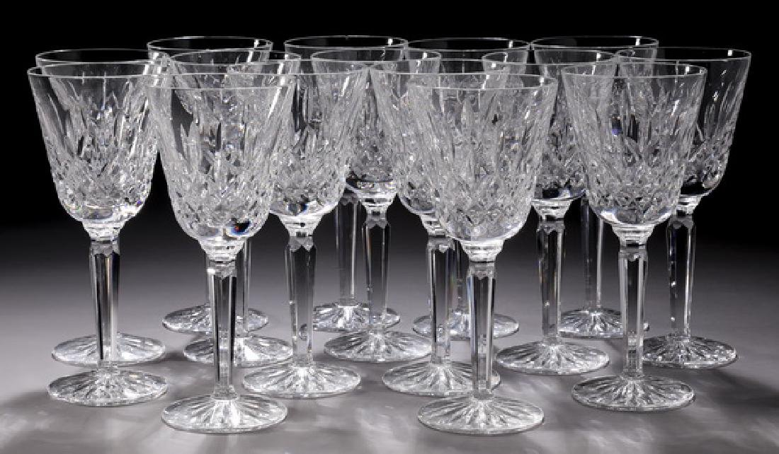 (15) Waterford crystal 'Lismore' water goblets
