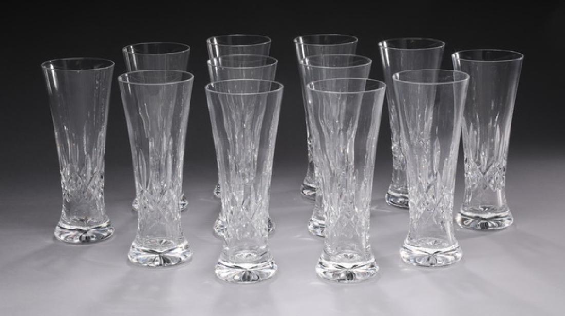 (12) Waterford crystal 'Lismore' pilsner glasses
