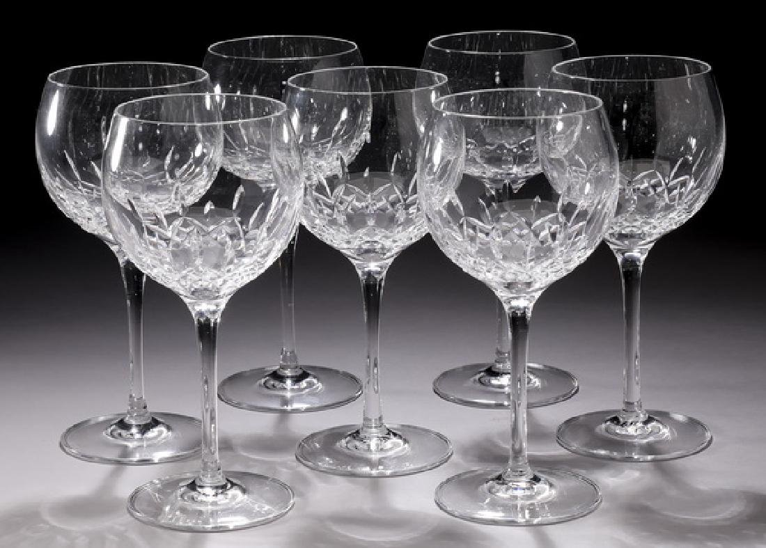 (7) Waterford crystal 'Lismore Essence' wine glasses
