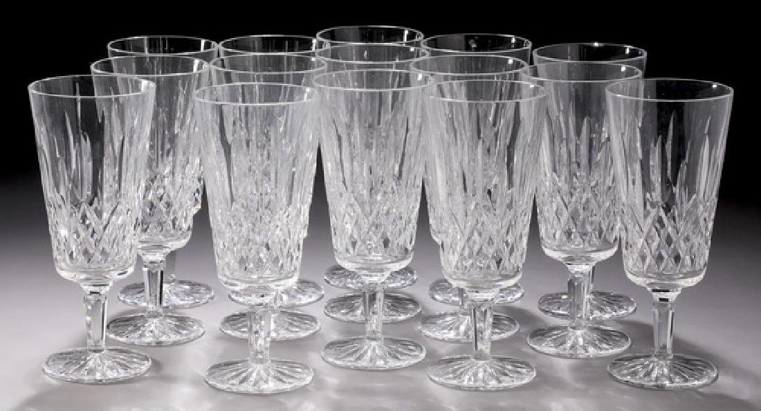 (15) Waterford crystal 'Lismore' iced tea glasses