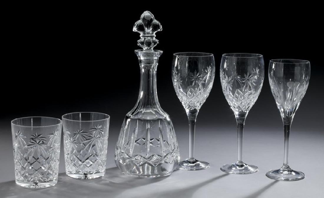 6 Pcs. Waterford crystal bar ware, including decanter