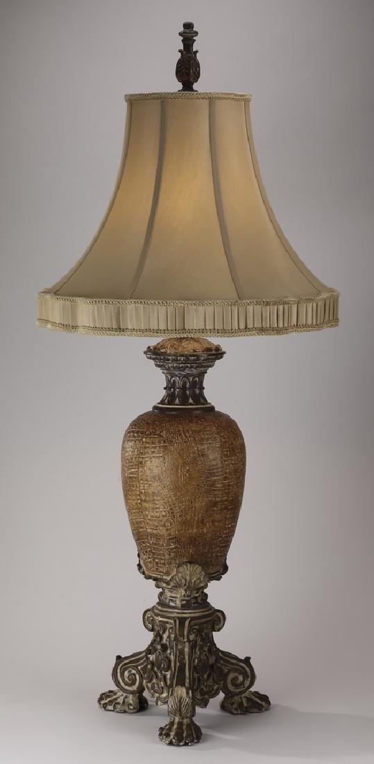 Contemporary faux snakeskin table lamp w/ shade