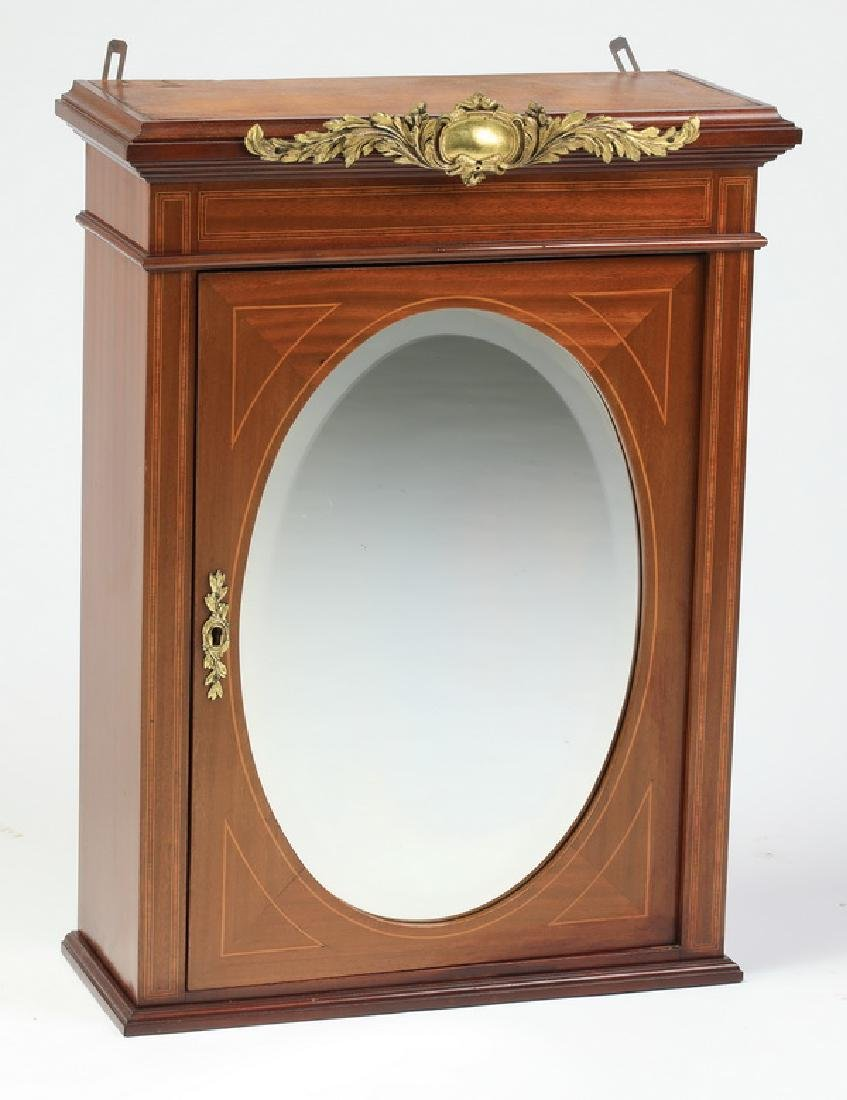 """Early 20th c. French hanging wall cabinet, 27""""h"""