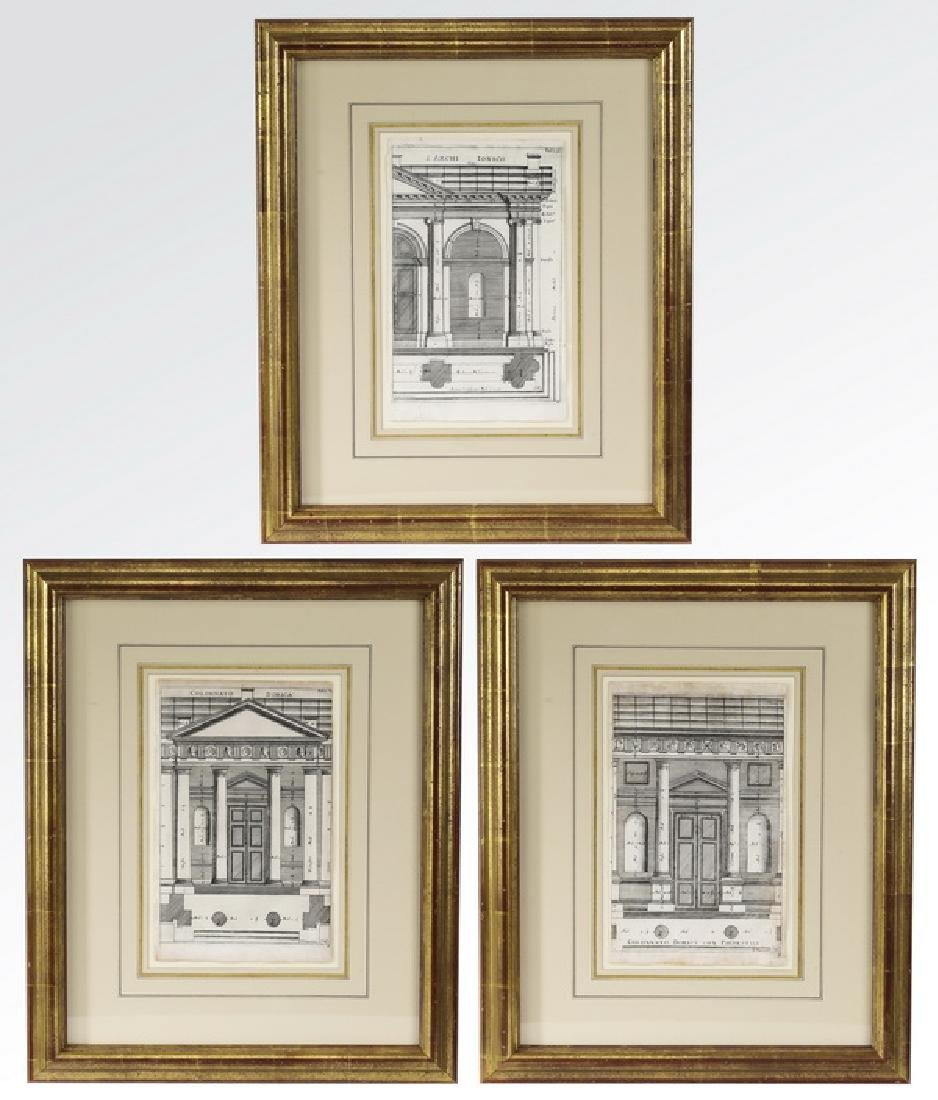 (3) Italian architectural engravings