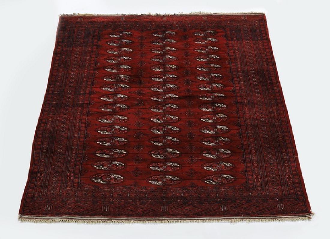 Hand knotted wool Afghan Bokhara rug, 5 x 6
