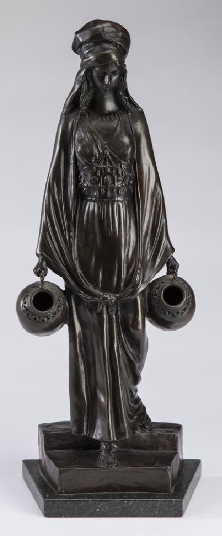 "D. Alonzo Orientalist bronze 'The Water Carrier' 21""h"