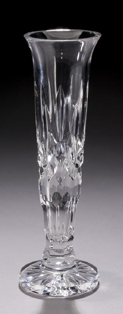 Waterford crystal bud vase in the 'Lismore' pattern
