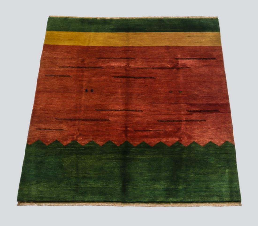 Tibetan Gabbeh style hand knotted wool rug, 8 x 10
