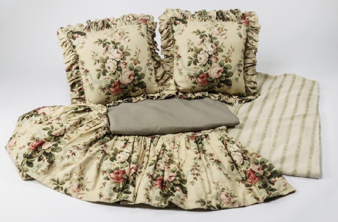 5-Piece custom made queen size bedding ensemble