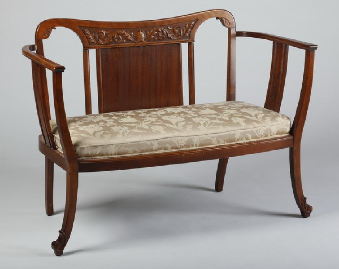 French Art Nouveau settee, early 20th c.