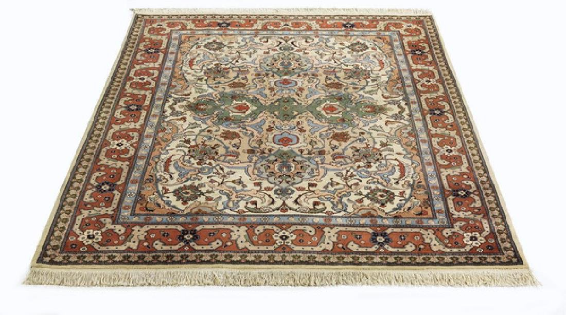Hand knotted wool Turkish rug, 9 x 7