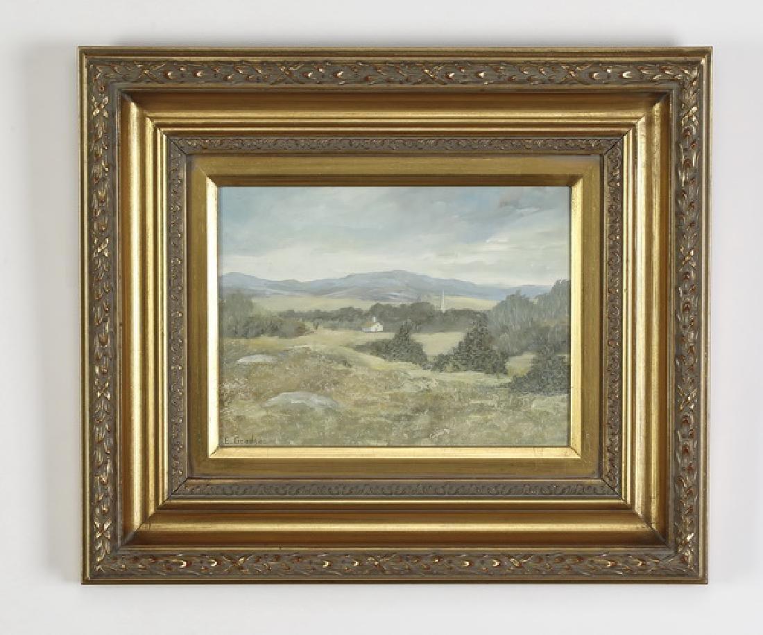 O/c of a tranquil landscape signed 'Gradijan'