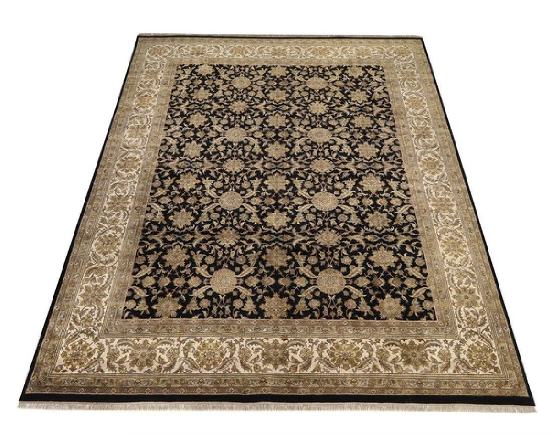Hand knotted wool Indo-Khotan rug, 15 x 12