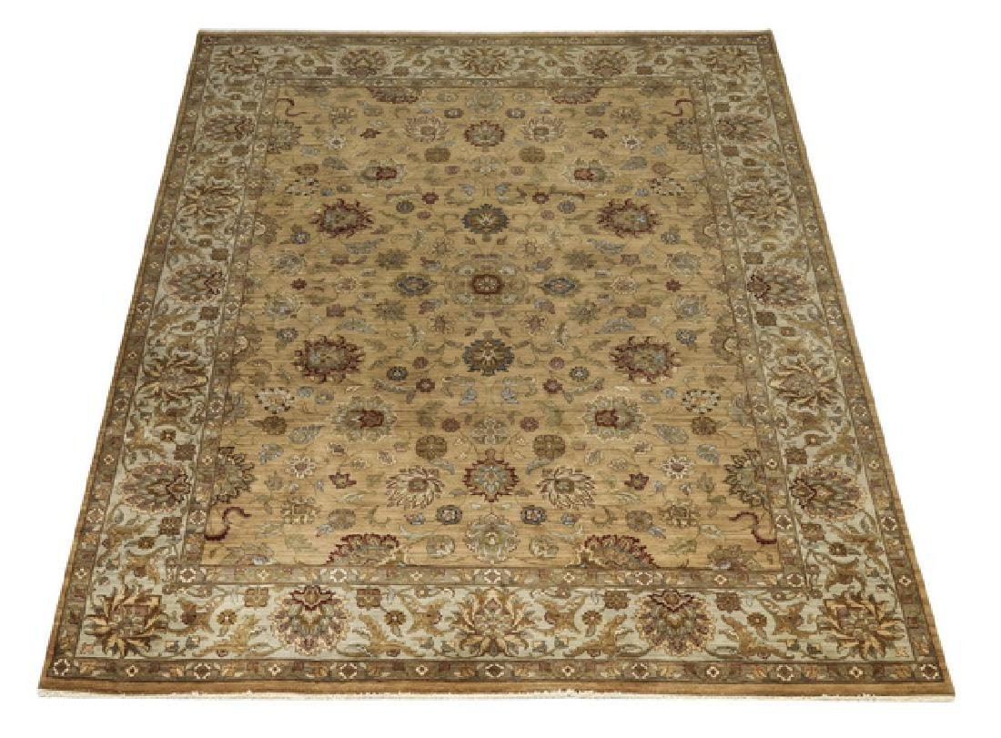 Hand knotted wool Indo-Sultanabad rug, 12 x 9