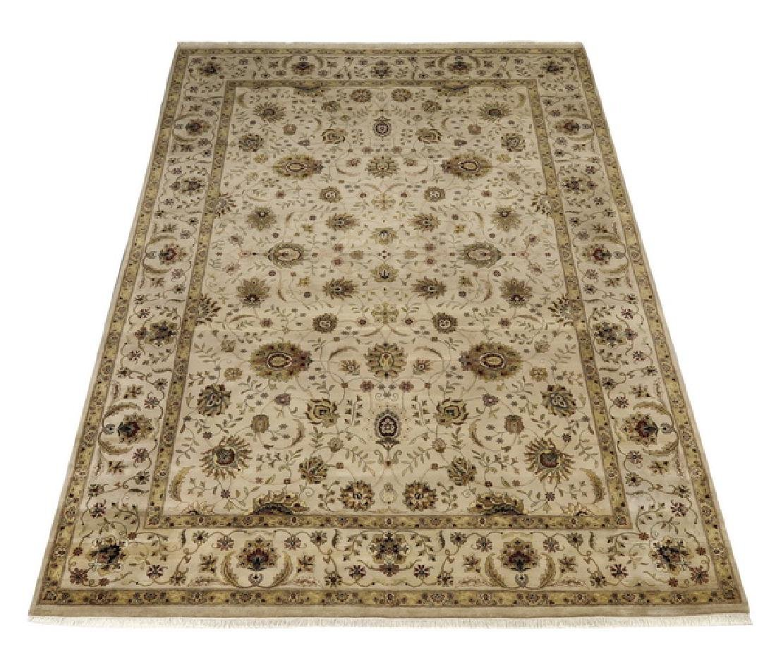 Hand knotted wool Indo-Sultanabad rug, 14 x 10