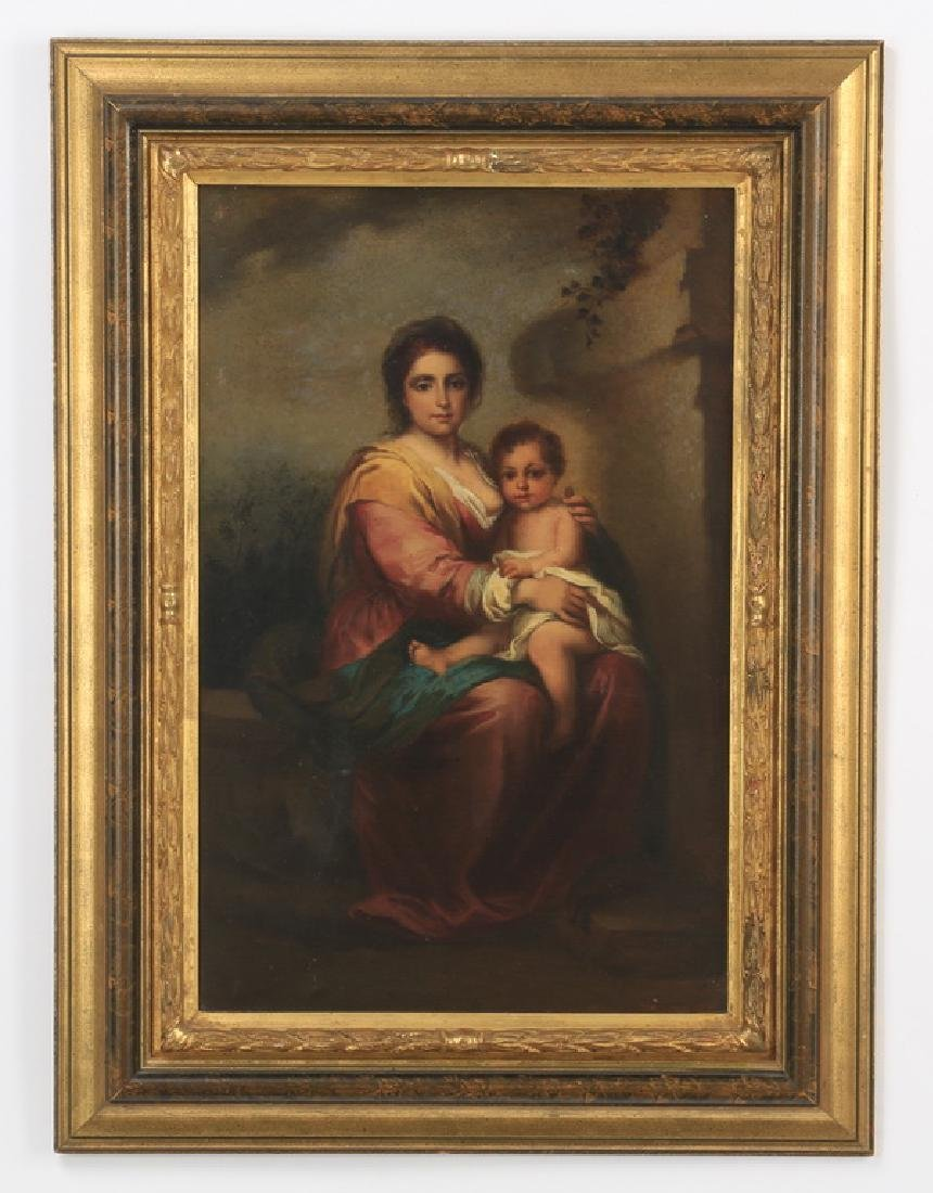 "19th c. 'The Madonna and Child,' after Murillo, 33""h"