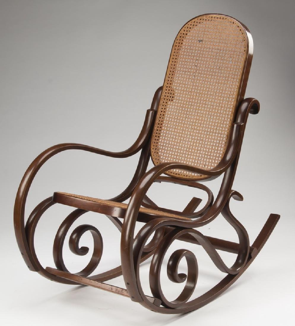 Thonet style bentwood rocking chair