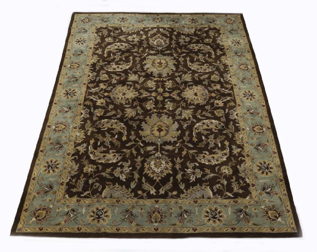Wool Oushak design rug, 14 x 10