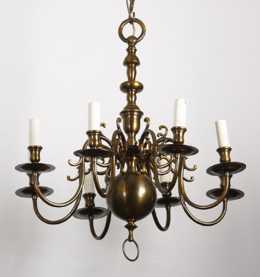 Early 20th c. brass chandelier