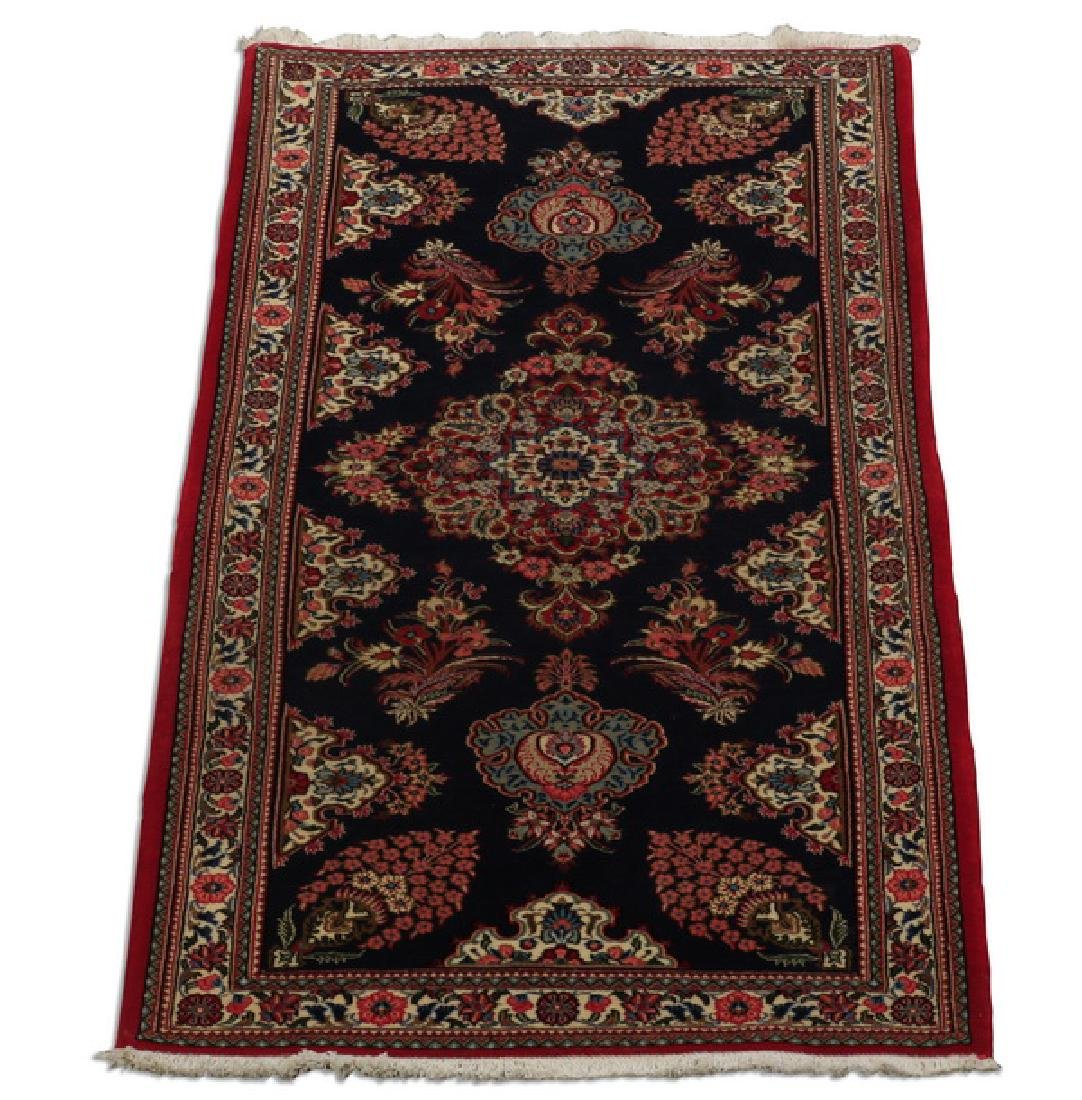 Hand knotted Northwest Persian wool rug, 3 x 7